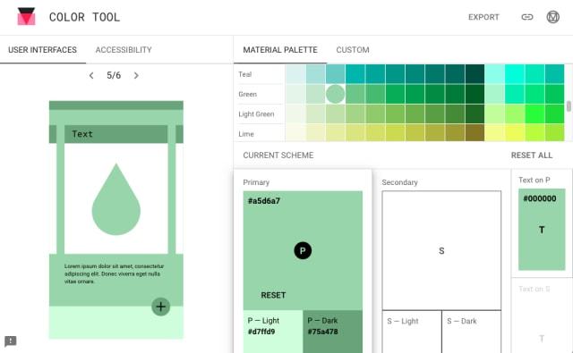 Color Toolの画面