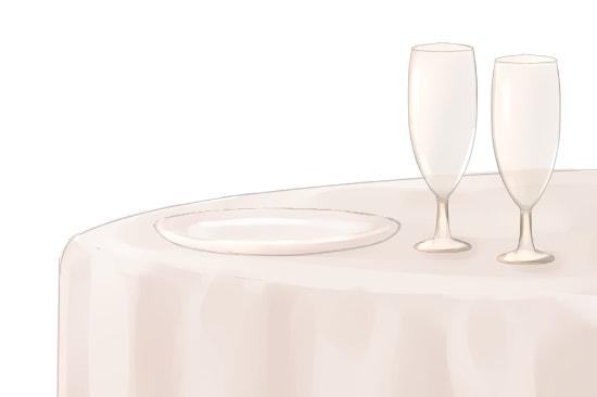 皿やグラスを塗る