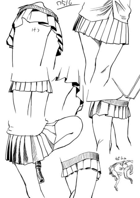 スカートのドローイング4