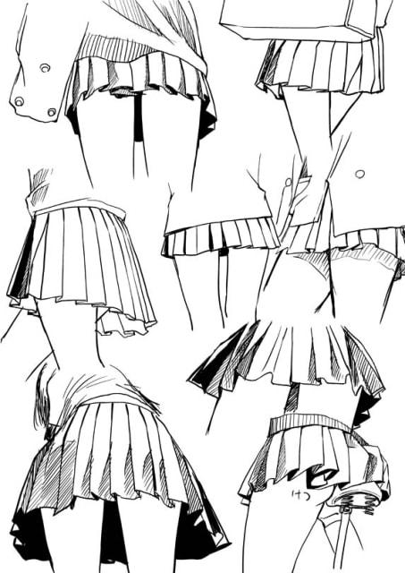 スカートのドローイング5