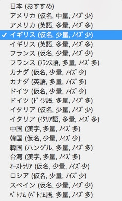国名のリスト