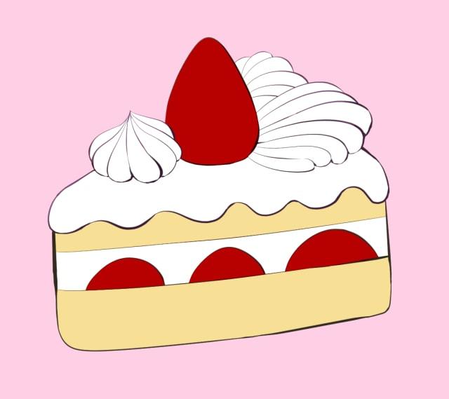ショートケーキの描き方-線画
