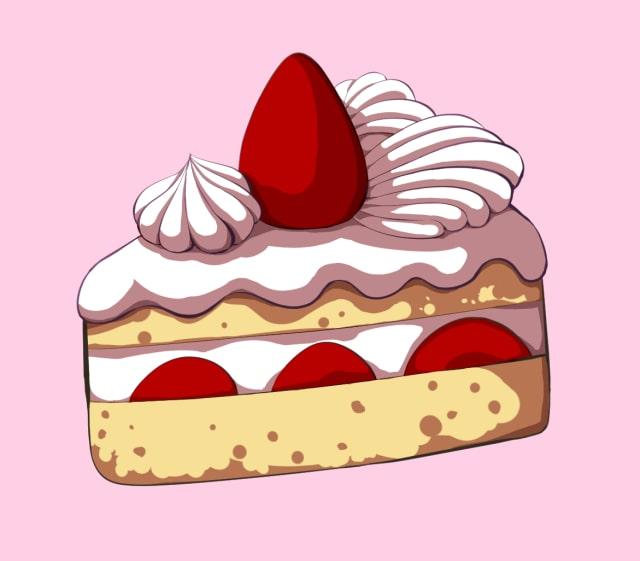 ショートケーキの描き方-影