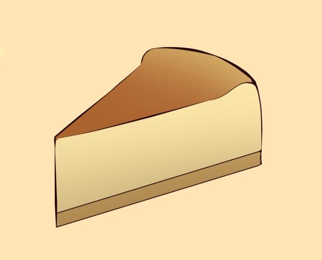 ベイクドチーズケーキの描き方-線画