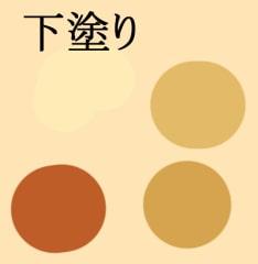 ベイクドチーズケーキの描き方-下塗りの色