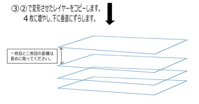 長方形を複製する
