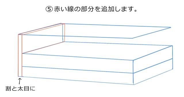 隅の線を追加する