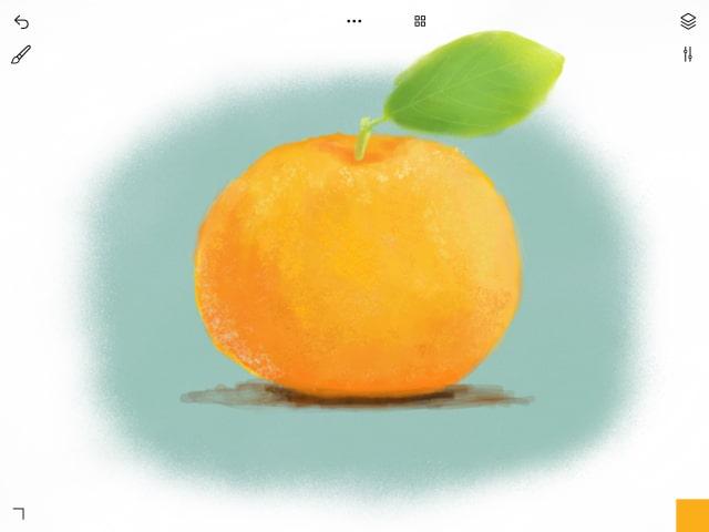 オレンジの完成