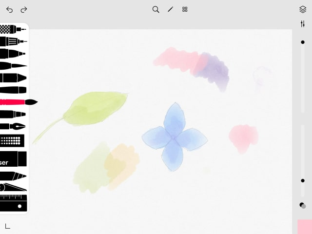 水彩を使う