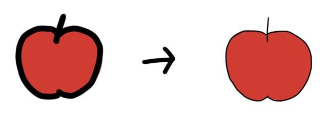 線の太さの解説イラスト