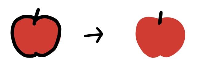 線なし面の解説イラスト