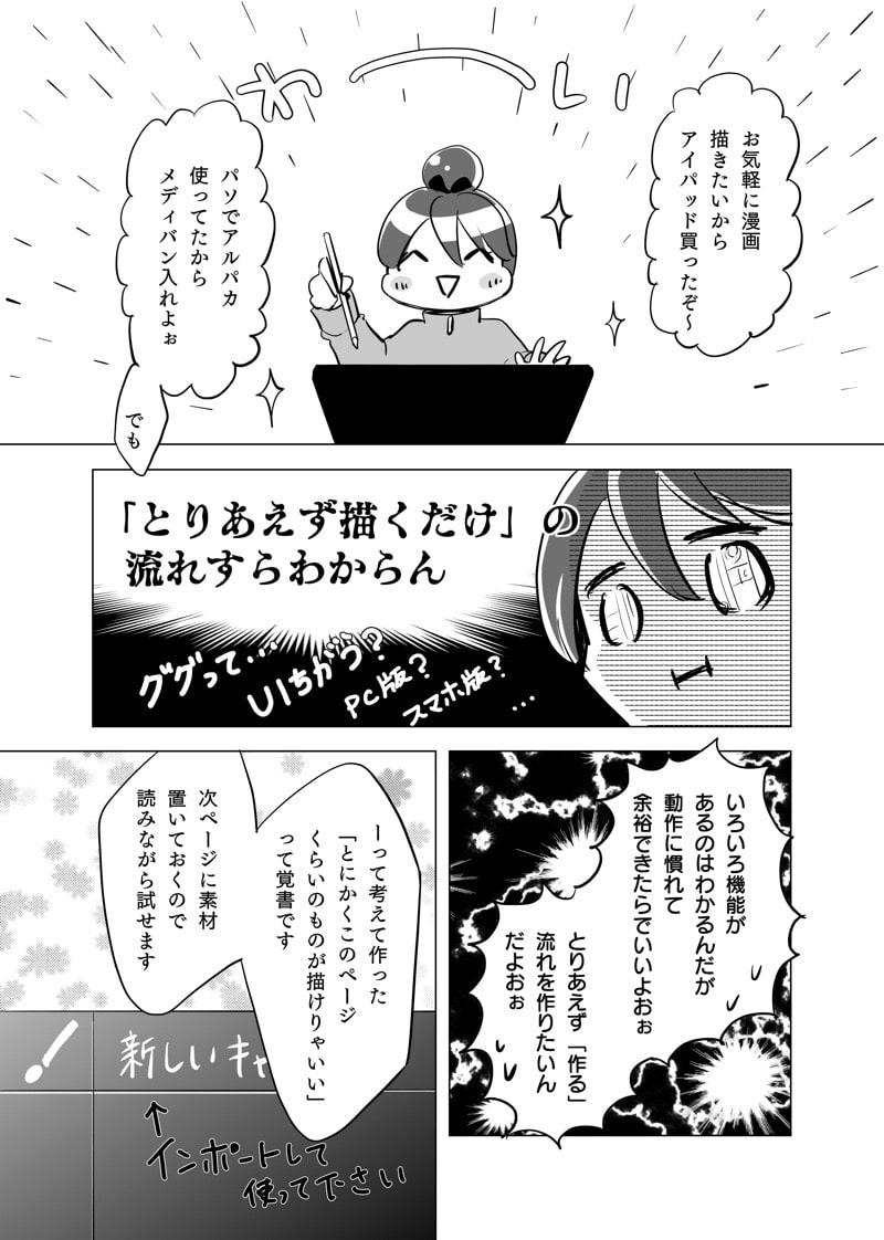 制作する漫画