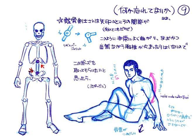 骸骨剣士と人体の違い
