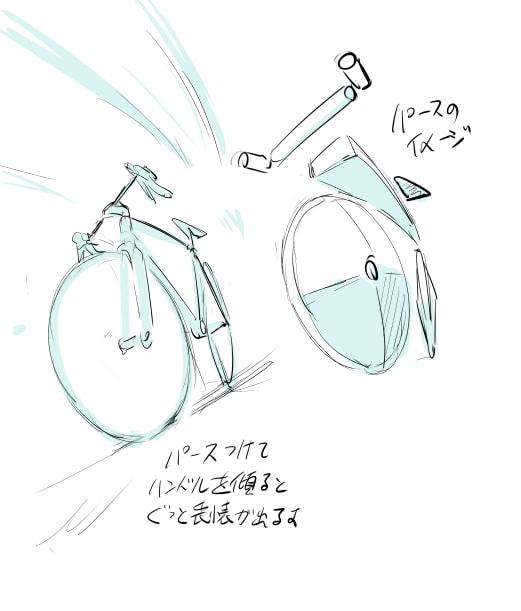 パースがついた自転車