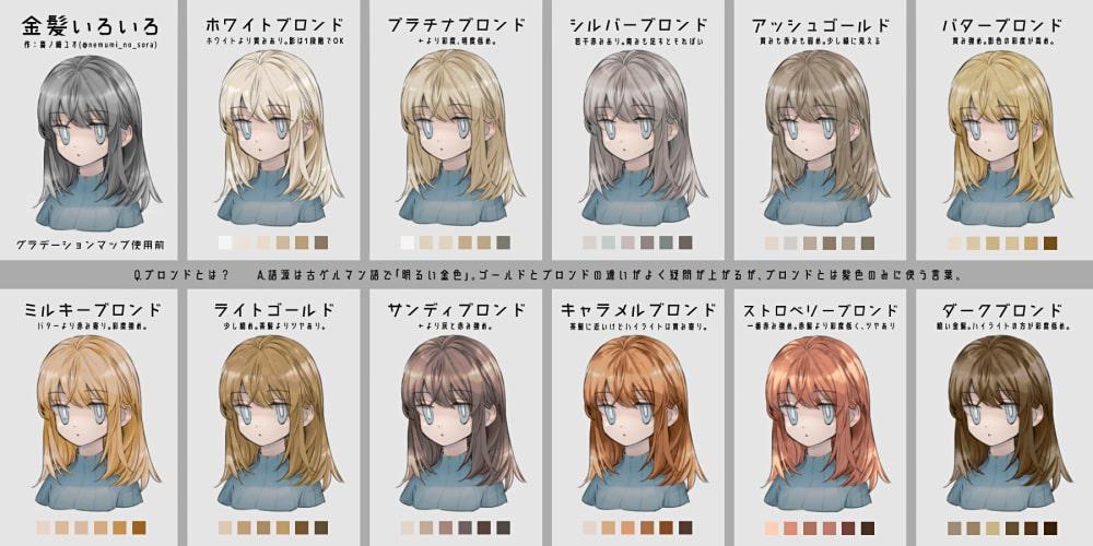 金髪の種類