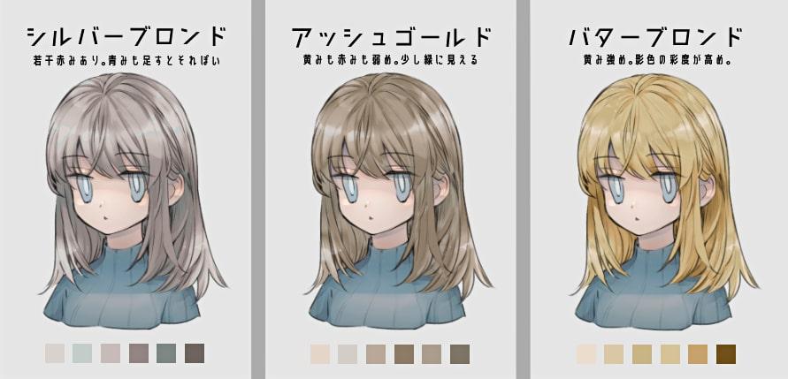 金髪の種類2