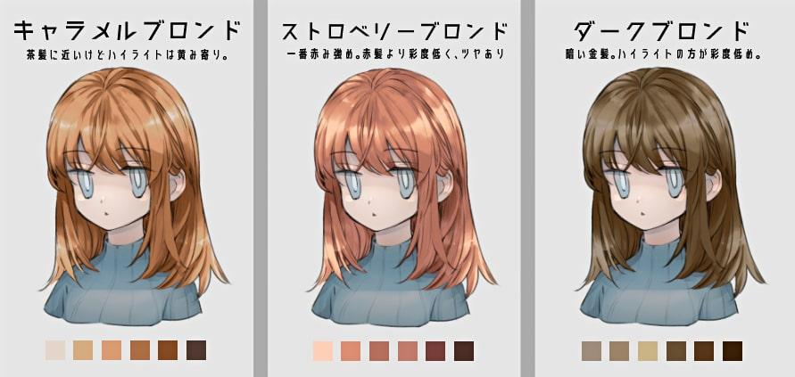 金髪の種類4