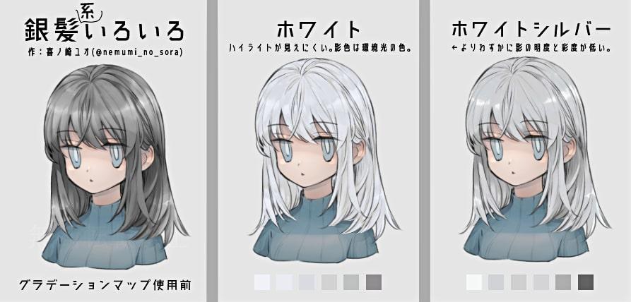 銀髪の種類1