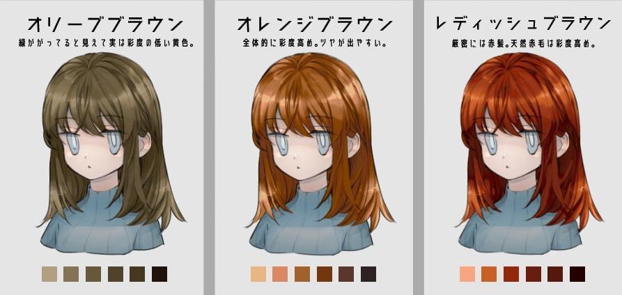 茶髪の種類3