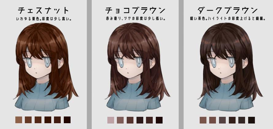 茶髪の種類4
