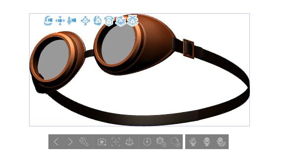 ゴーグルの3D素材
