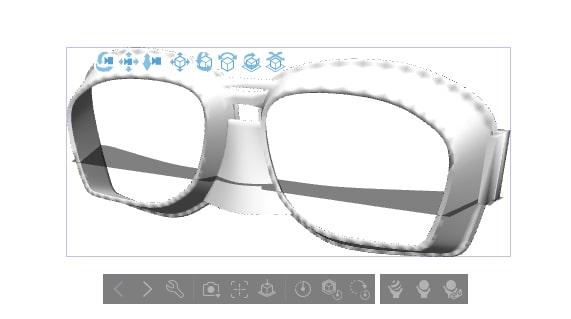 ゴーグルの3D素材2