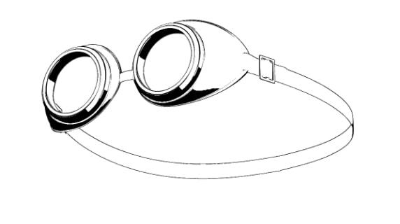 ゴーグルの3D素材3
