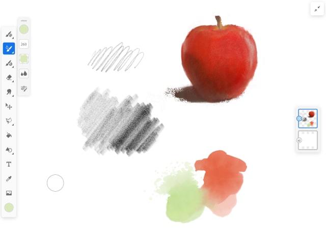 Adobe Frescoの画面