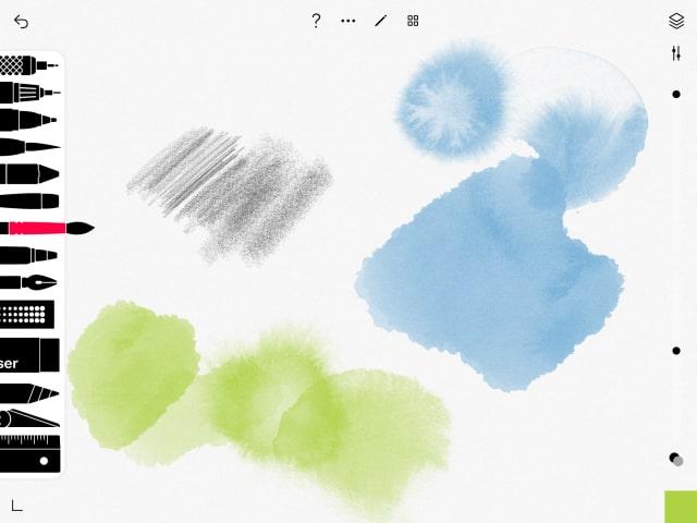 Tayasui Sketchesの画面