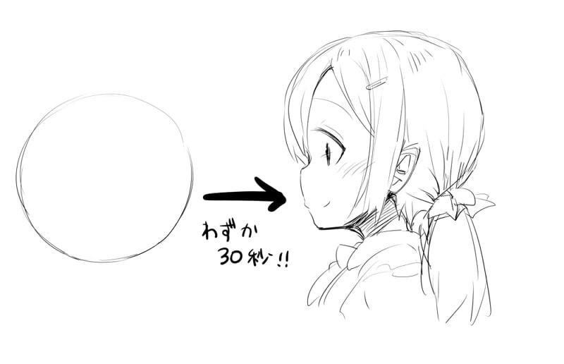 横顔の描き方の導入部